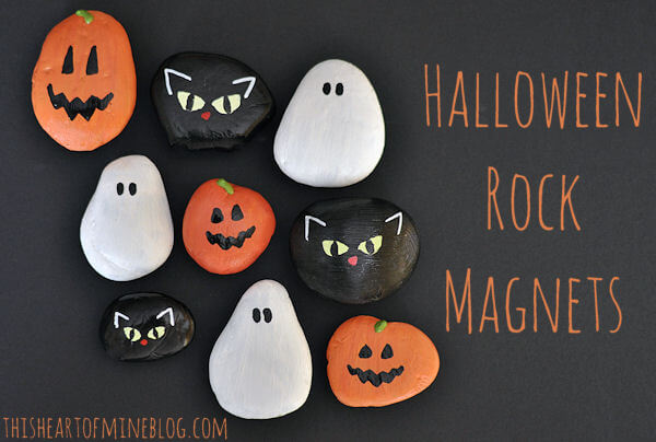 Halloween Rock Magnets 5