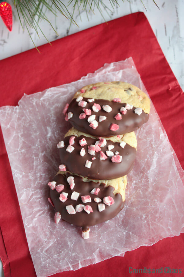 fancy peppermint cheesecake cookies 2
