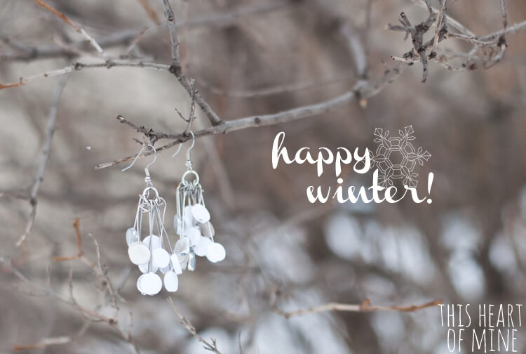 Winter White Polymer Clay Earrings 18