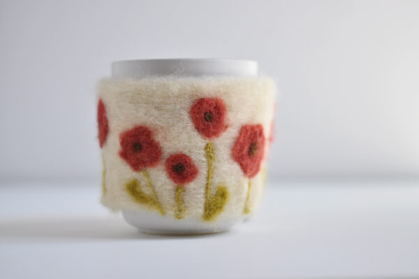 Felted Coffee Cozy 20