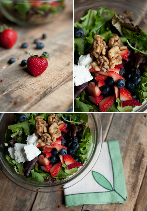 Berry Salad with Goat Cheese and Homemade Dressing 2