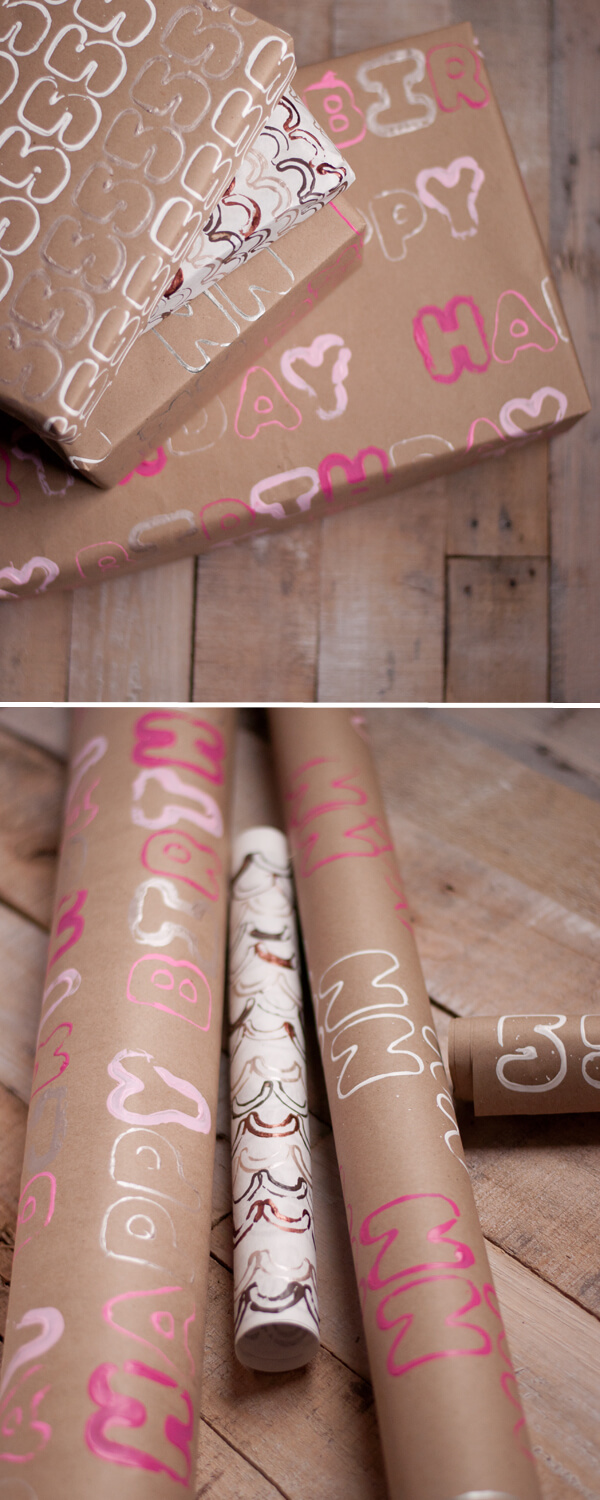 Stamped Wrapping Paper 2