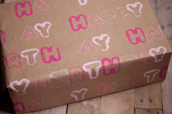 Stamped Wrapping Paper 7