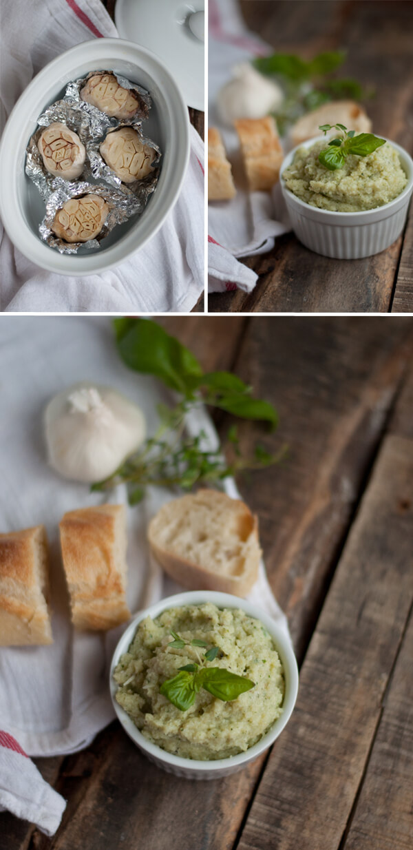 Roasted Garlic & Parmesan Spread | this heart of mine
