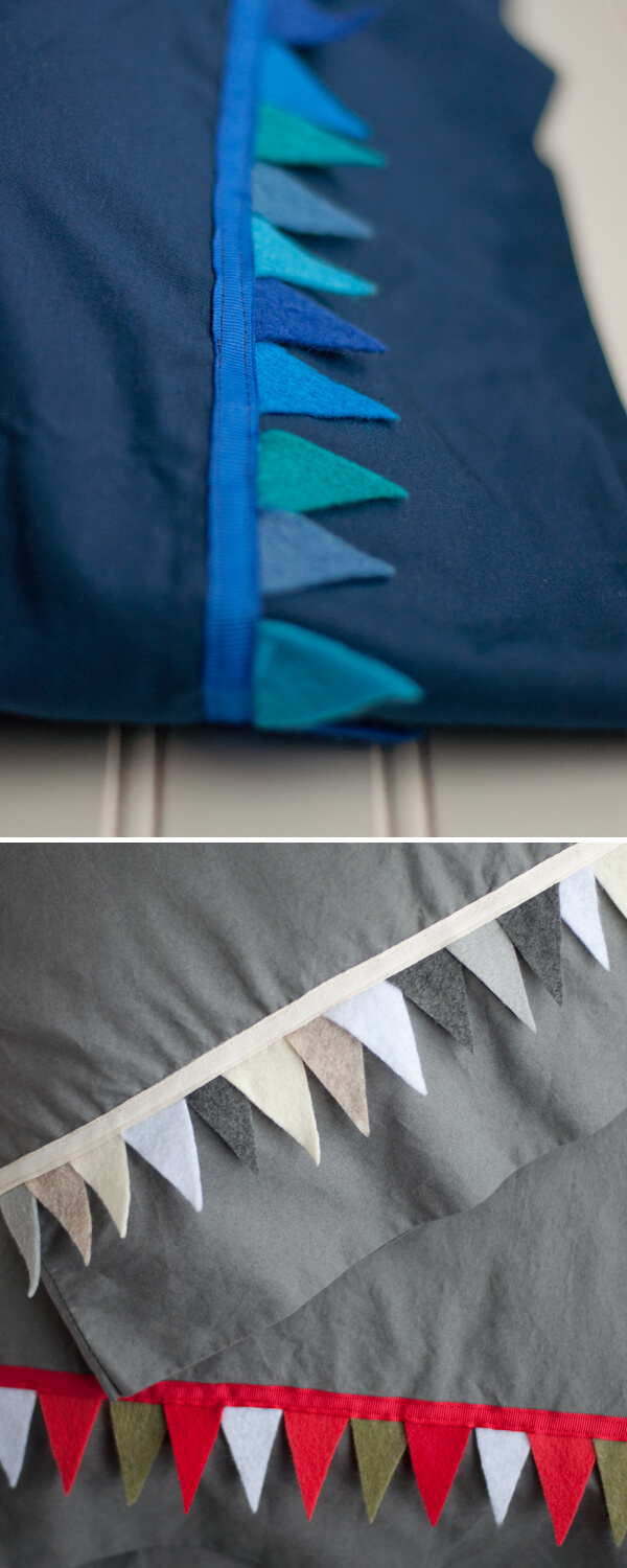 Pennant Pillow Case - make your pillows festive! | this heart of mine