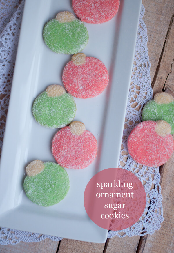 Sparkling Ornament Sugar Cookies | this heart of mine