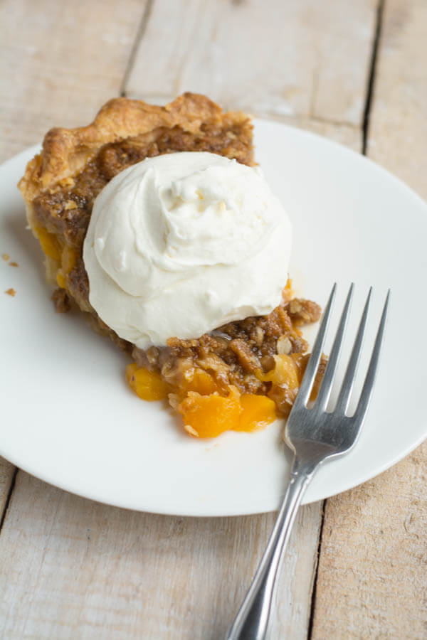 Crumble Peach Pie | this heart of mine
