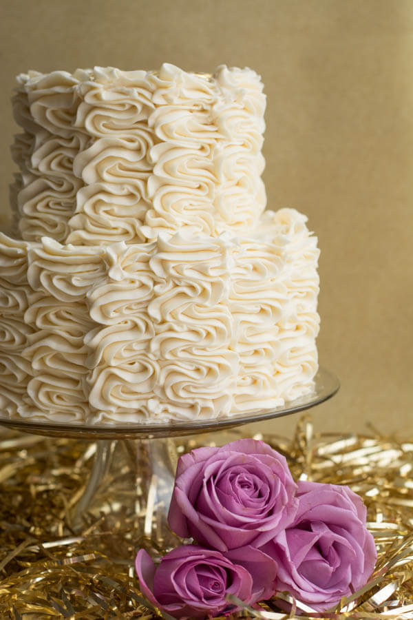 Champagne Cake with Vanilla Frosting | this heart of mine