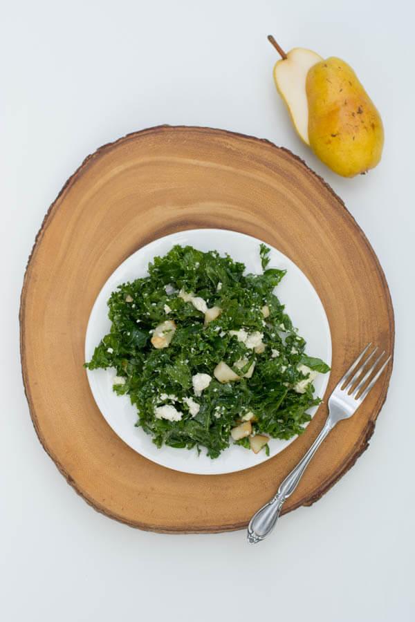 Kale, Pear & Feta Salad | this heart of mine