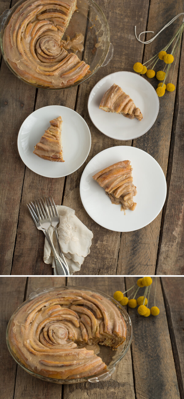 Cinnamon Roll Pie Recipe | this heart of mine