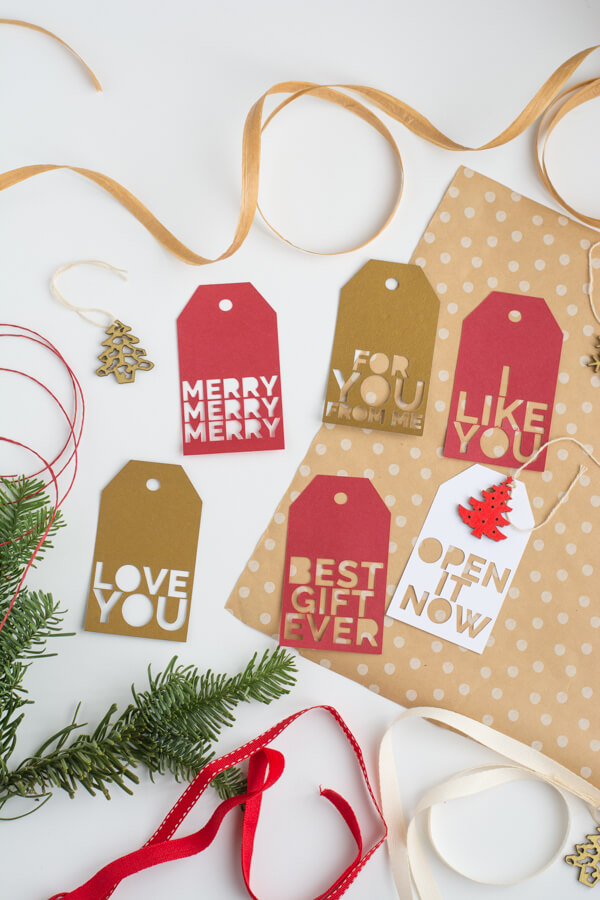 Holiday Gift Tags Made with Cricut!! | this heart of mine