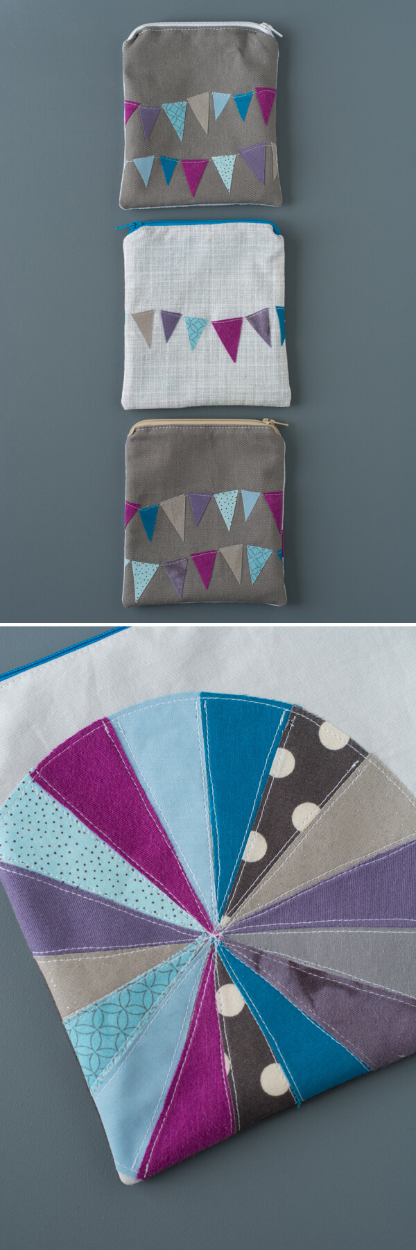 Made Fabric Pouch - Zipper Pouch Series   this heart of mine