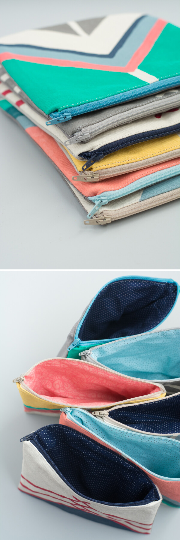 Painted Fabric Pouch - Zipper Pouch Series   this heart of mine