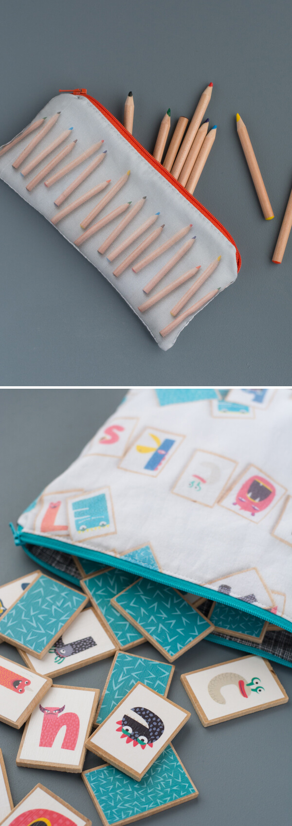 Printed Fabric Pouch - Zipper Pouch Series   this heart of mine