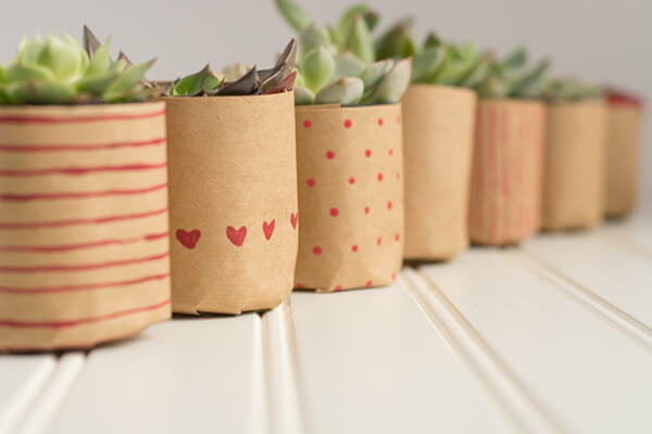 Paper Bag Succulents for Valentine's Day with Lulu the Baker | this heart of mine
