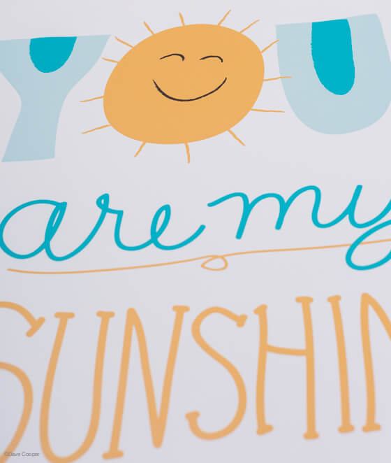 You Are My Sunshine Print by Jen of Classic Play! | this heart of mine