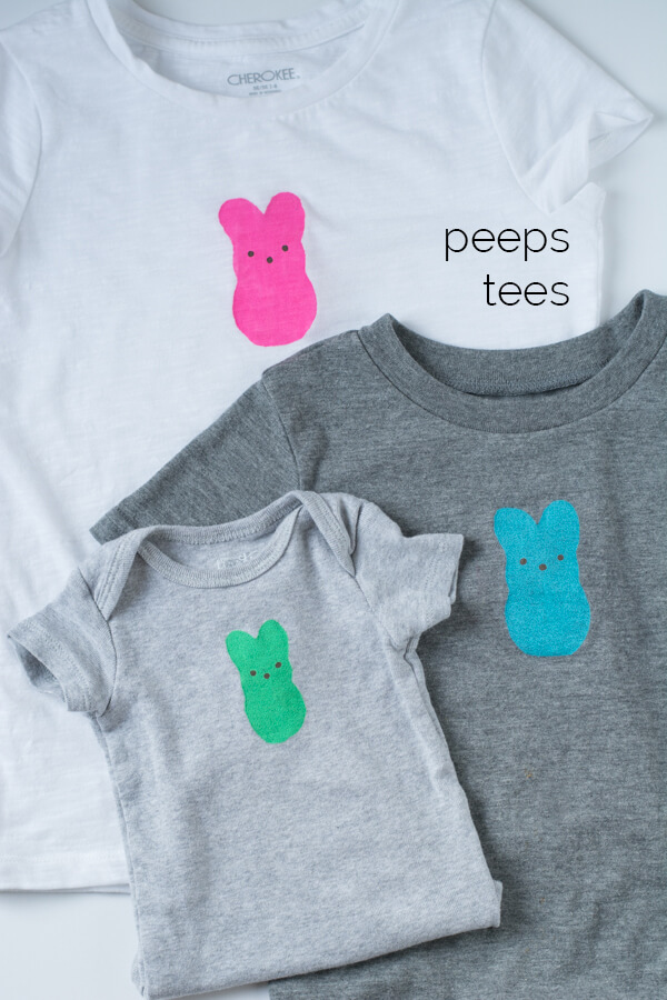 Peeps Tees for Kids with free stencils! | this heart of mine