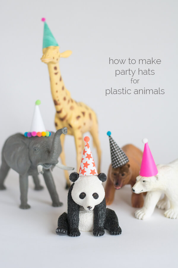 How to Make Party Hats for Plastic Animals • this heart of mine