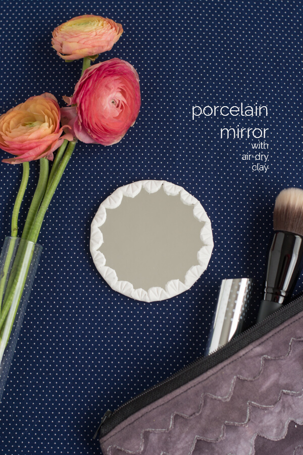 Handmade Porcelain Mirror with Air-Dry Clay | this heart of mine