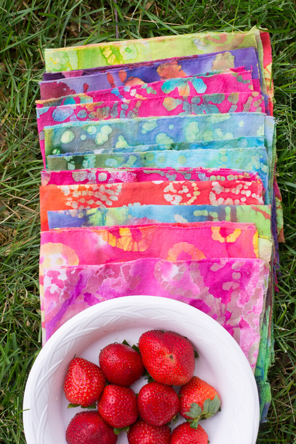 Make No-Sew Napkins - Perfect for a Summer Picnic!   this heart of mine