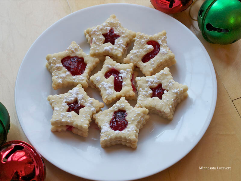 Day 21: Shortbread Linzer with Cranberry Filling • this heart of ...