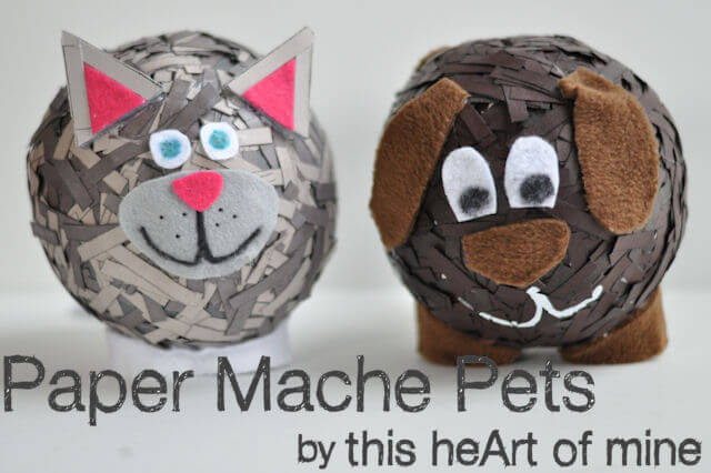 Meremade paper mache pets for Easy paper mache ideas