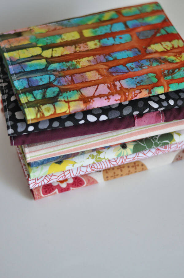Sewn Book Cover Tutorial : Sewn fabric notebook covers this heart of mine