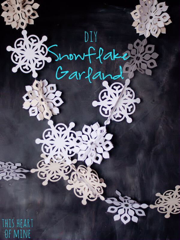 Winter wonder snowflake garland this heart of mine
