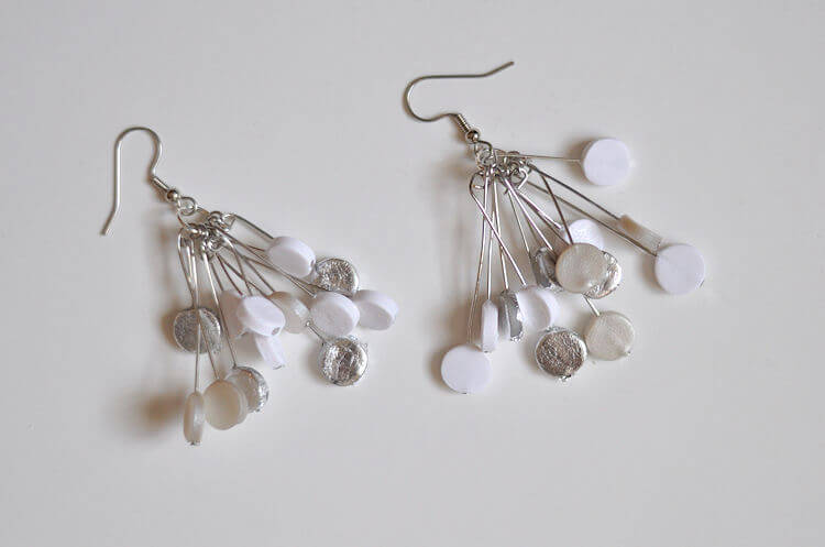 Winter White Polymer Clay Earrings 12