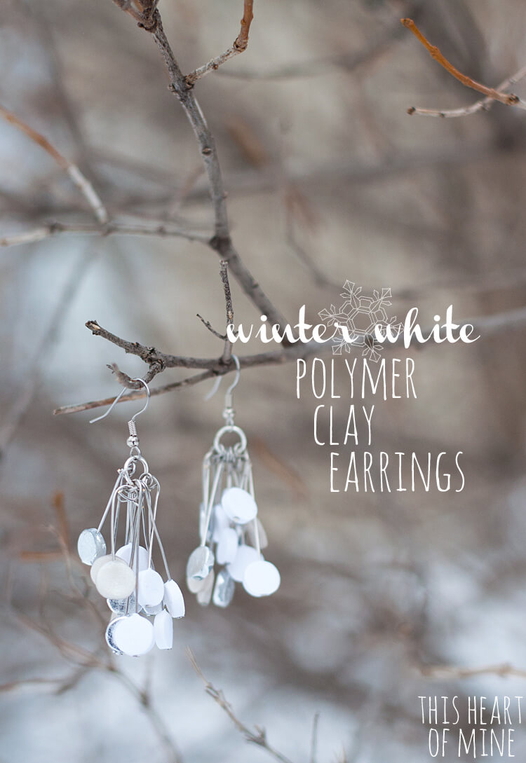 Winter White Polymer Clay Earrings 17