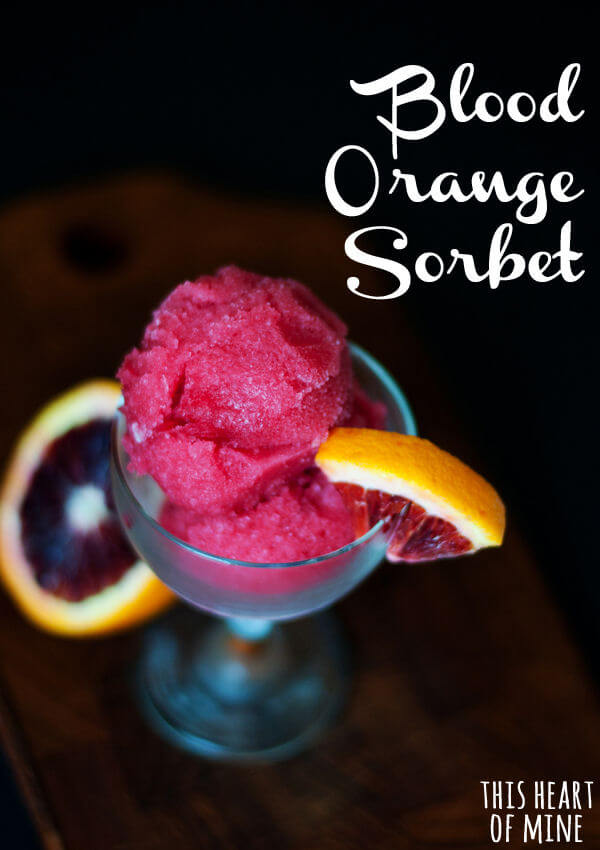 Blood Orange Sorbet Recipe — Dishmaps