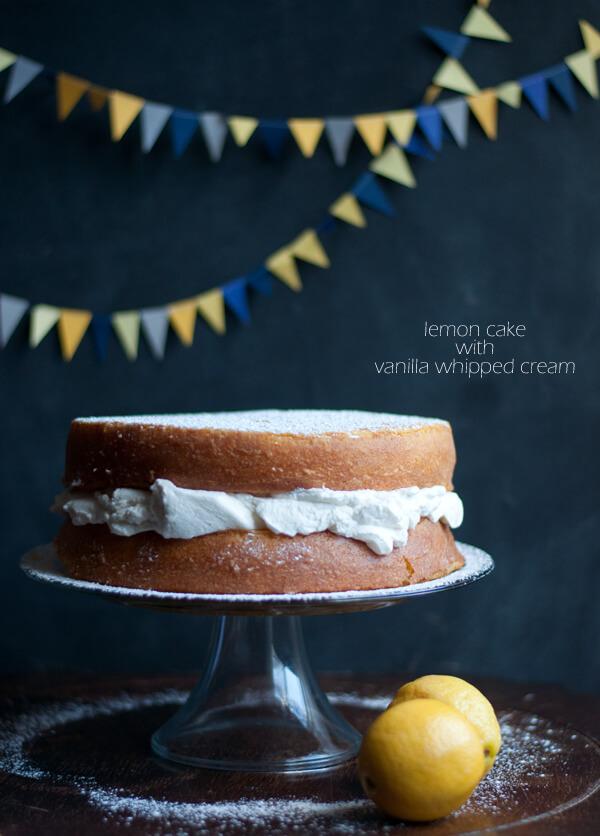 Recipe: Lemon Cake with Vanilla Whipped Cream   this heart ...