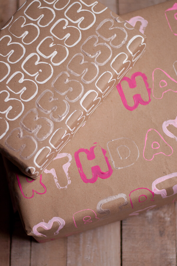 Cookie Cutter Stamped Wrapping Paper this heart of mine