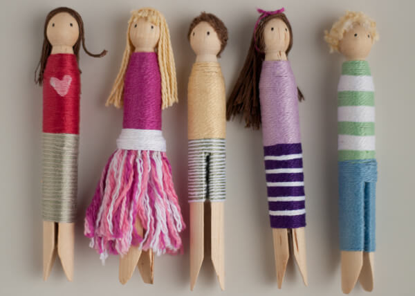Clothespin Wrap Dolls This Heart Of Mine