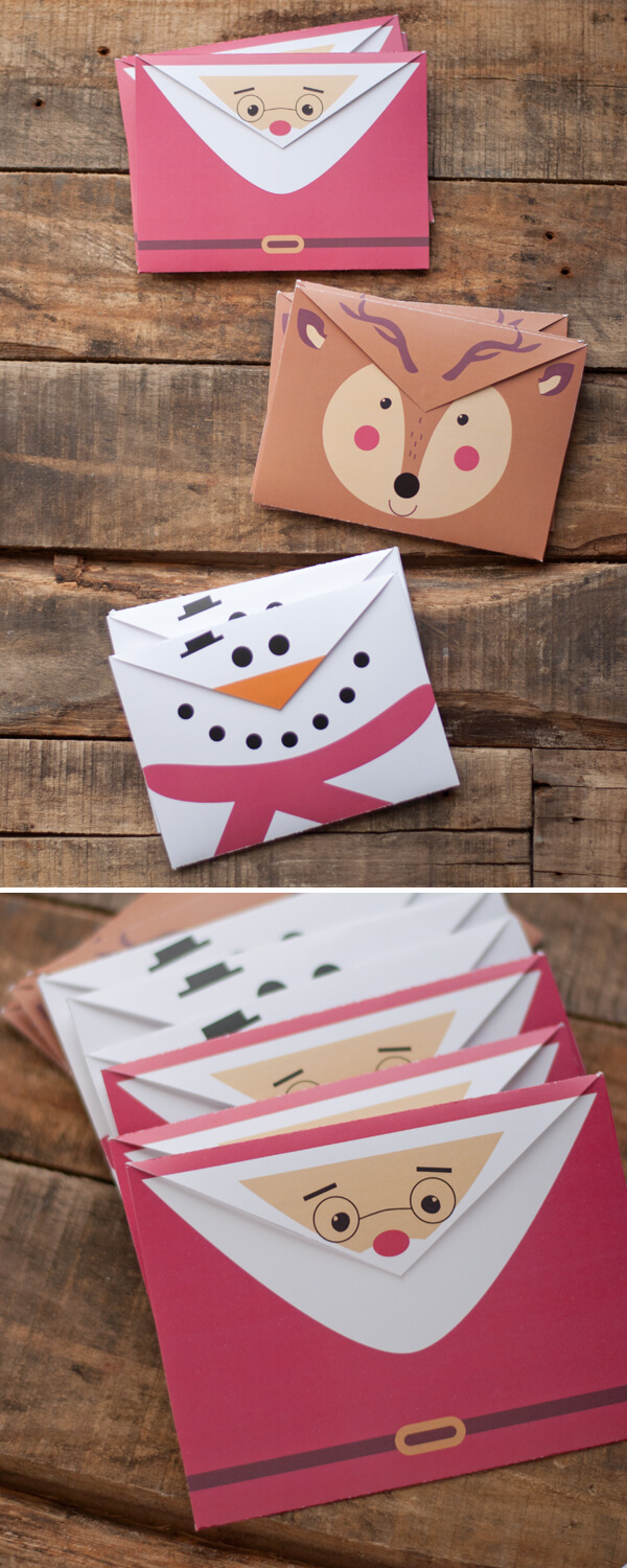 printable holiday envelopes this heart of mine. Black Bedroom Furniture Sets. Home Design Ideas
