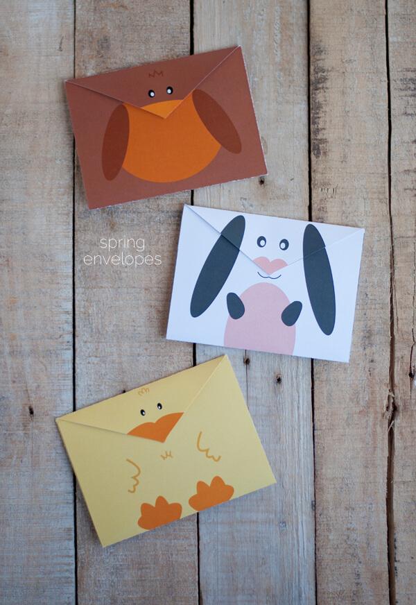 Enveloppes gratuits à imprimer pour printemps | ce coeur de la mine
