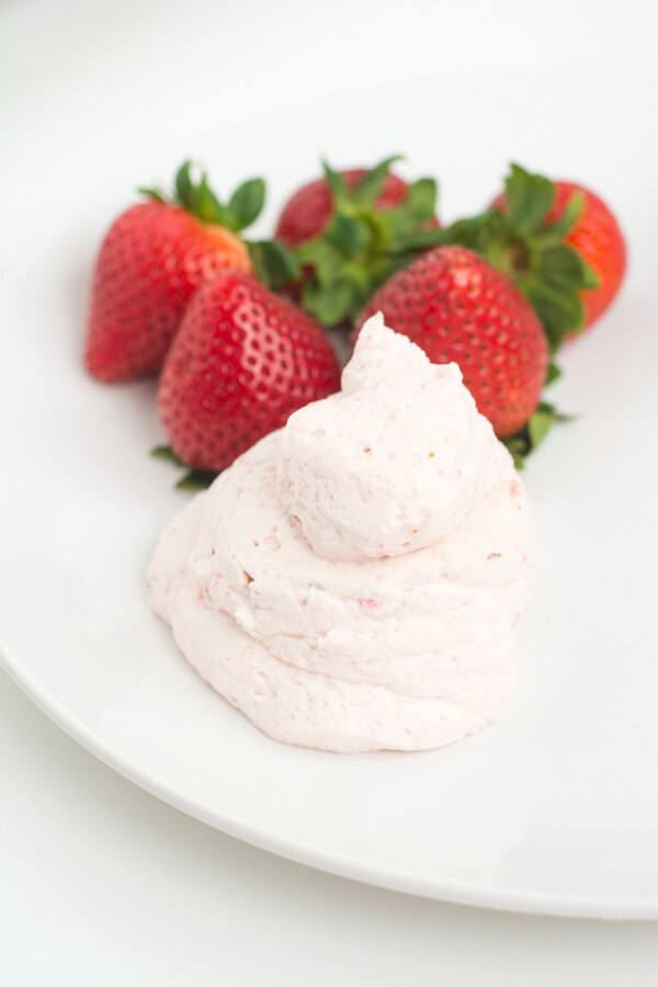 Strawberry Whipped Cream with Real Strawberries! | this heart of mine