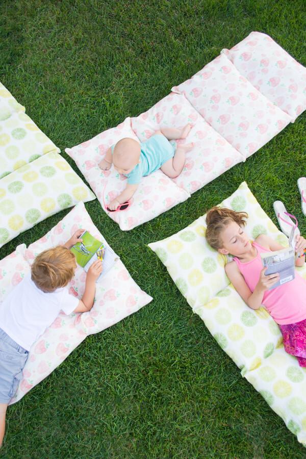 Faça Fácil Pillow camas para o verão!  |  esse meu coração