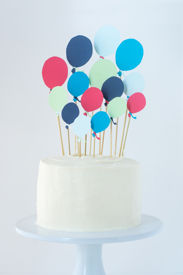 Cake Decoration Balloons : A First Birthday Cake with Paper Balloons   this heart of mine